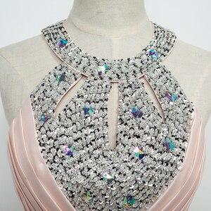 Image 3 - שמלת ערב 2020 משלוח חינם באורך רצפת סאטן סקסי פורמליות לנשף שמלות צד ארוך ערב שמלות