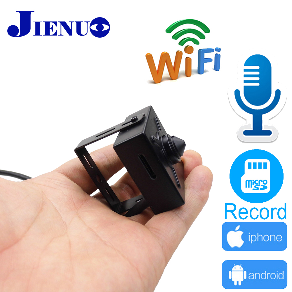 купить mini ip camera wifi 720P 960P 1080P CCTV Security Surveillance Support Audio Micro SD Slot Ipcam Wireless Home Small Cam JIENUO по цене 1999.13 рублей