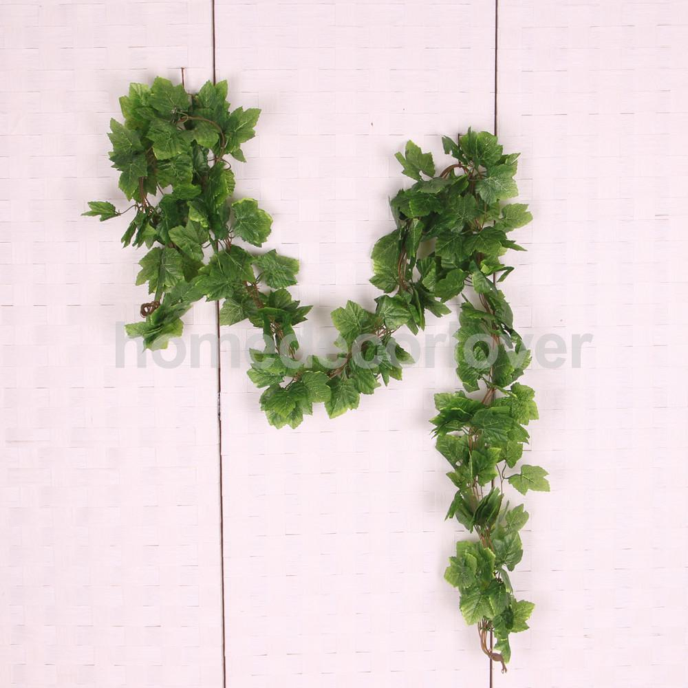 Phenovo 5Pcs Artificial Leaf Garland Plants Vine Home decor