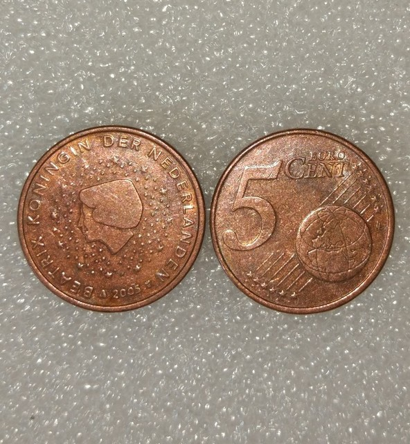 Netherlands 5 Euro Cents CoinEU Europe 100 Real And Origingal Coins For Collection