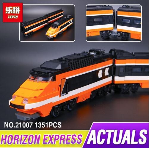 new lepin 21007 1351Pcs Out of print, the sky train Model Building Kits Blocks Bricks Funny Toys Compatible With 10233 in stock seize the sky
