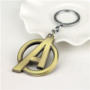 Модный брелок Мстители письмо Капитан Америка кулон Щит металлический брелок Porte Clef автомобильный брелок ювелирные изделия для мужчин подарки - Цвет: Style 6
