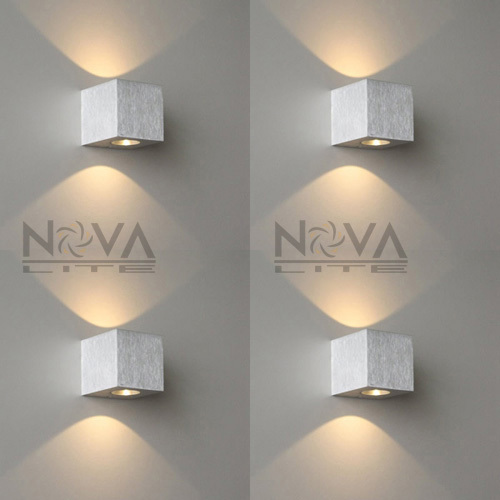 Indoor Small Wall Lamp, LED Up Down Wall Sconce Aluminum Residential Lighting LED Hotel Light AC230V Input 2W 3pcs per lot 3 narrow beam indoor wall effect light led architectural facade lighting 3 emission led wall sconce ac90 260v input decoration