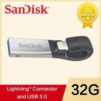 SanDisk USB Flash Drive128GB 64GB 32GB OTG USB3.0 SDIX30N Pen Drives lightning USB Stick pendrive for iPhone iPad iPod APPLE MFi
