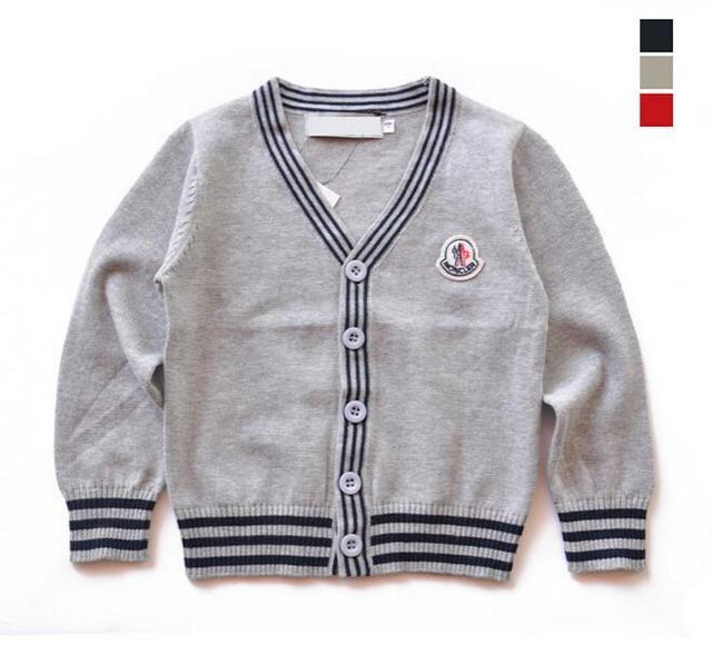 2015 Otoño Invierno Niño Cardigan Suéter de Polo de la Marca de Los Bebés De Punto Jerseys Cardigans Niño encogimiento de hombros para Las Niñas ropa