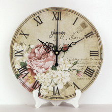 "wholesale 12"" more quite desk clocks waterproof clock face home decor table clock living room decor weeding decoration gift"