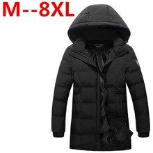 2016 8XL 7XL 6XL 5XL 2016 Winter Keep Warm Coat Casual Men's Down Jacket Men's brand 100% Polyester Long section Jacket Coat men