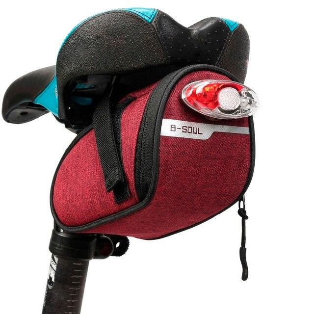 B-soul-Bolsa de montura de bicicleta portátil, a prueba de agua, portátil, bolsa para SILLÍN de ciclismo, bolsas de traseras, equipo de ciclismo 6