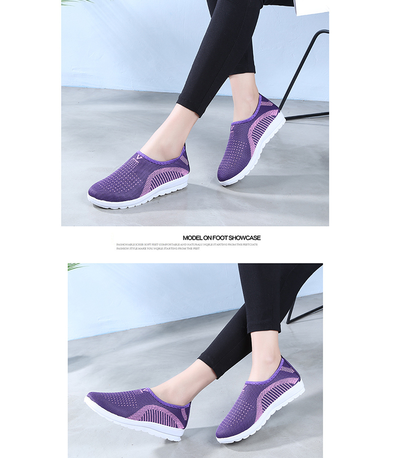 Mesh women sneakers Breathable Slip On casual shoes women fashion comfortable Summer Flat Vulcanize Shoes Zapatos Mujer VT248 (5)
