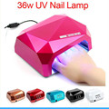 36W Auto UV LED Lamp UV LED Nail Dryer SUN Light 365-405nm Nail Lamp Diamond Shaped Curing for UV Gel Nail Polish Nail Art Tool