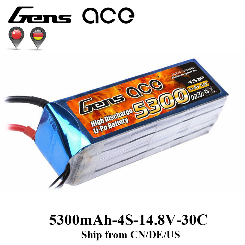 Gens ace Lipo Battery 4S 5300mAh Lipo 14.8V Battery Pack RC Battery for RC Airplane RC Boat 700 Helicopter Drone laptop keyboard for sony vpcz2 black without frame with backlit us english version