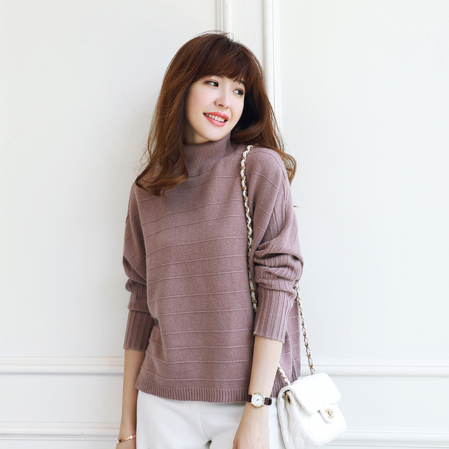 b55eb9dd8d 2018 autumn winter new cashmere sweater high neck knit sweater and pullover  100% pure cashmere female warm tops women s clothing