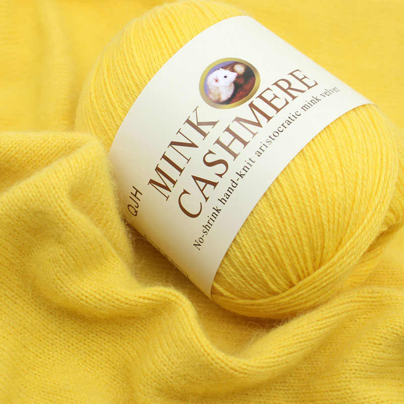 Hilo de lana de visón de la mejor calidad Hilos de cachemira suave de Mongolia hilo de ganchillo tejido a mano para tejer hilo para bufanda de punto de bebé