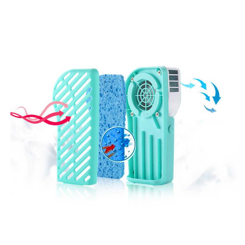 Xách tay Mini Điều Hòa Không Khí Fan Nụ Cười Khuôn Mặt USB Có Thể Sạc Lại Làm Mát Fan Với Pin Lithium Ngoài Trời Đi Du Lịch Cầm Tay Quạt Cầm Tay
