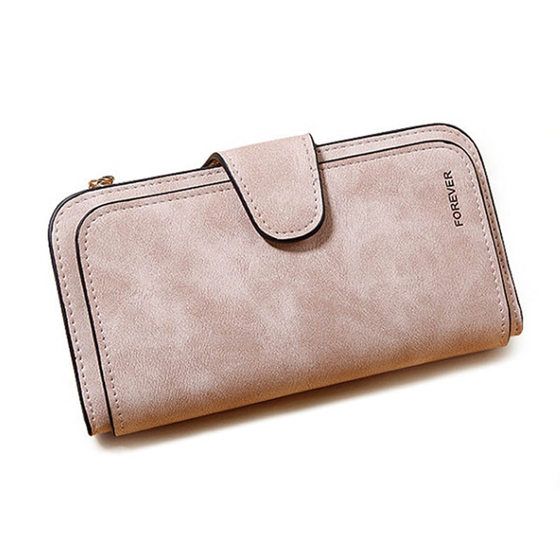 2018 New Women's Purse Fashion Wallet High Quality Design Hasp Solid Color Card Bags Long Female Purse 4 Colors Ladies Clutch W