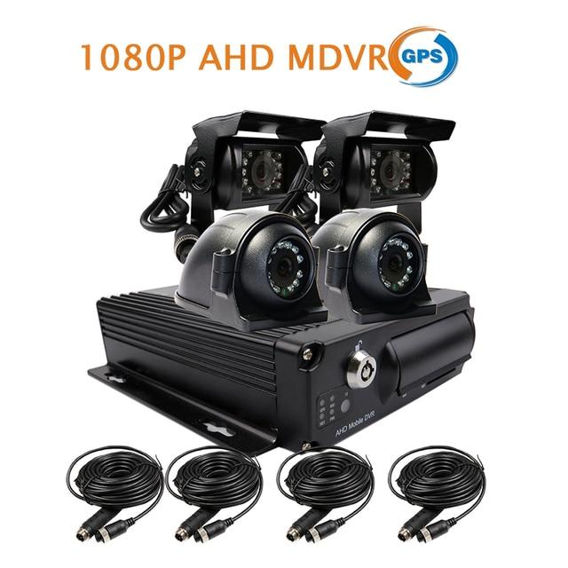 US $309 98  Free Shipping 4CH GPS Track 1080P AHD 256GB SD Car DVR MDVR  Video Recording 4Pcs IR Waterproof Front Side Rear View Car Camera-in  DVR/Dash