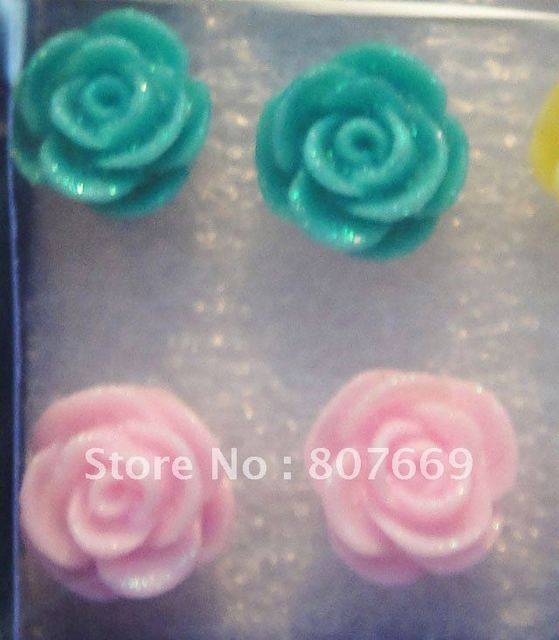 Free shipping whole sale 60pairs resin earring