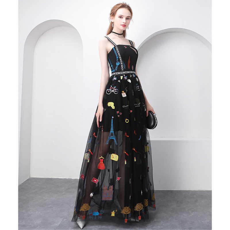 זה Yiiya שמלות נשף בנות ספגטי רצועת שרוולים לנשף שמלות פרח רקמת המפלגה שמלות רשמיות שמלות LX1019