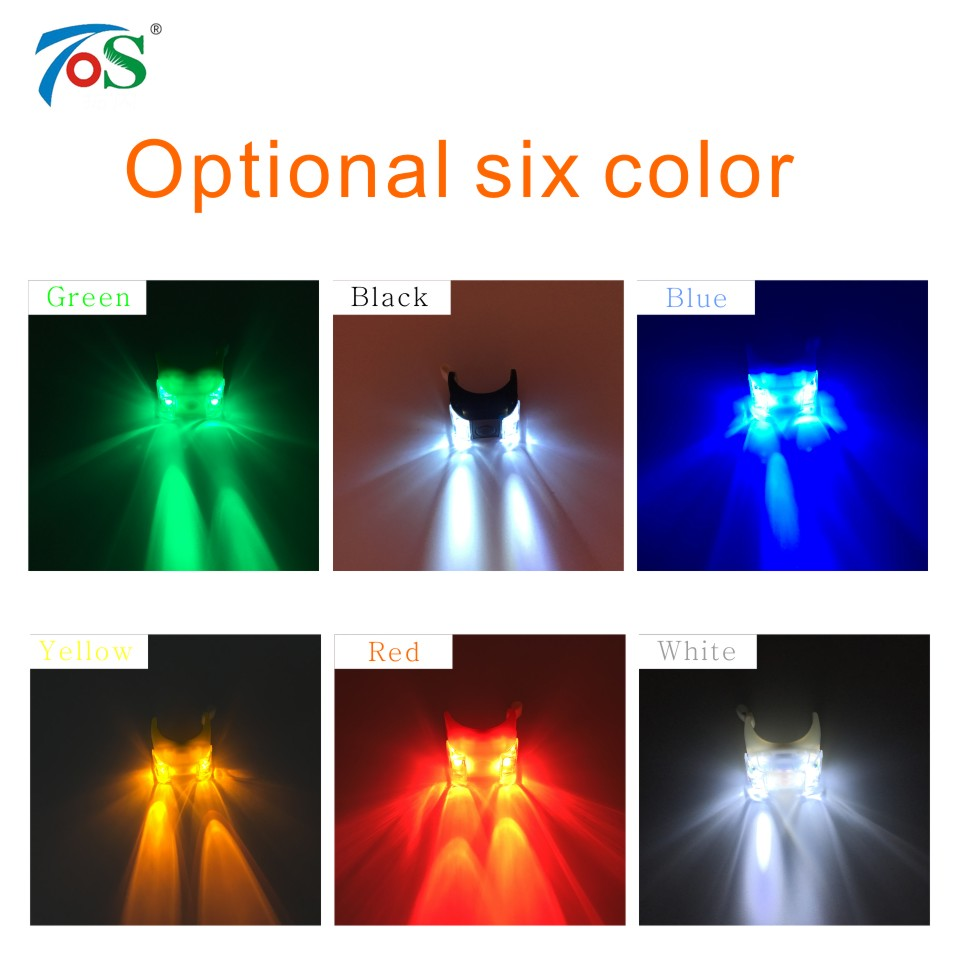 TOS 1PC LED Eyes Bike Light Bicycle Strobe Tail Rear Wheel Spoke Light Flashlight Bicycle Accessories Bike Front Handlebar Light