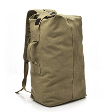 Men Outdoor Exercise Backpack Fabala Canvas Hiking Bag Durable Large Capacity Multi-use Travel Luggage trendy durable men backpack