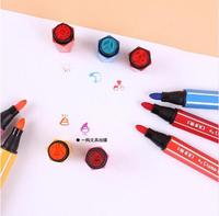 AIHAO 1881 Washable Markers Seal Watercolor Pen Thick Head Brush 12 18 24 36 Colors Optional