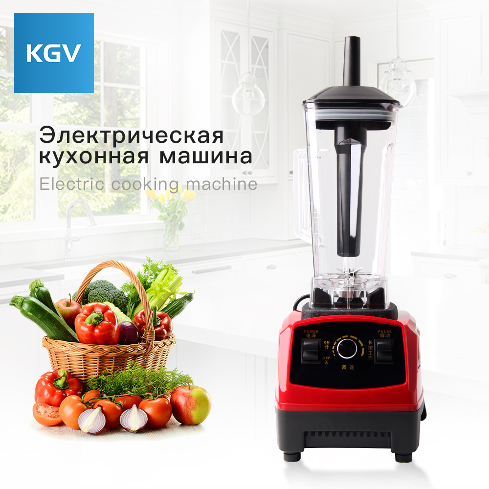 KGV blender mixer food smoothie multifunction juicer vegetable meat electric soya processor mixing stainless steel bean machine commercial blender mixer juicer power food processor smoothie bar fruit electric blender ice crusher