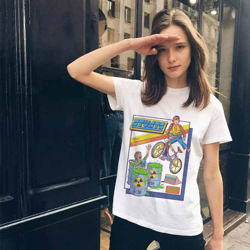 Summer 2019 Women T-shirt Pulp Fiction Graphic Tee Shirt Grunge Aesthetic Tops Tumblr T Shirt Femme Clothes Plus Size