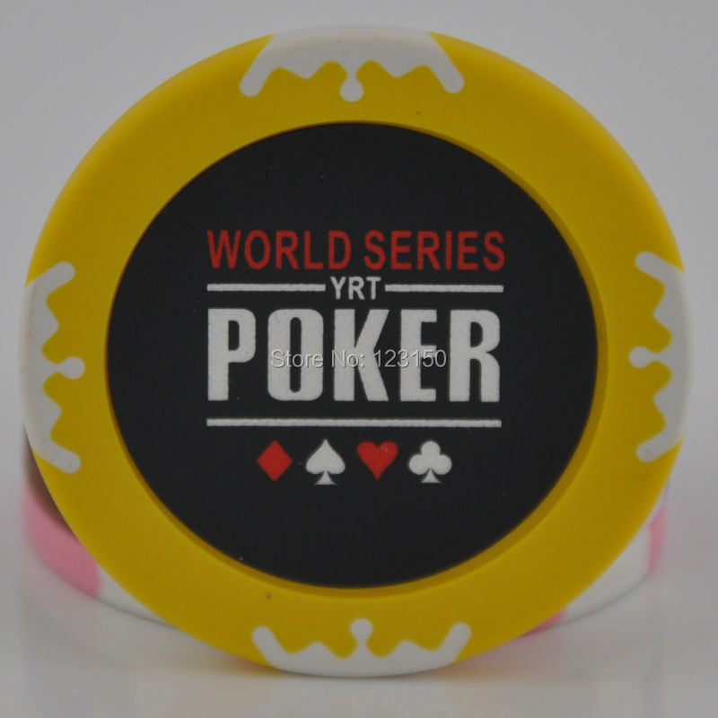 9006-Poker 50pcs/pack Clay 14g Poker Chips insert metal, no face value chips, Free shipping