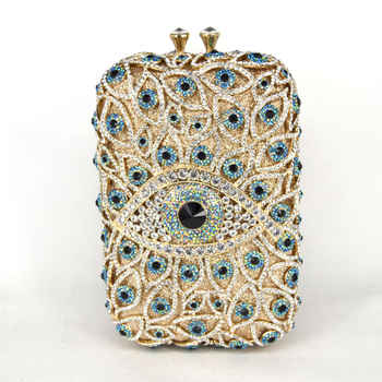 Newest Big Crystal Evening Bag Fit Into iphone Samsung Women Clutch Bag Large Wedding Party Purse Prom messenger Handbags SC513