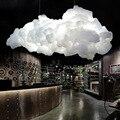 Современные плавающие облака светодиодные люстры освещение белый хлопок гостиная светодиодные люстры лампа столовая подвесные светильни...