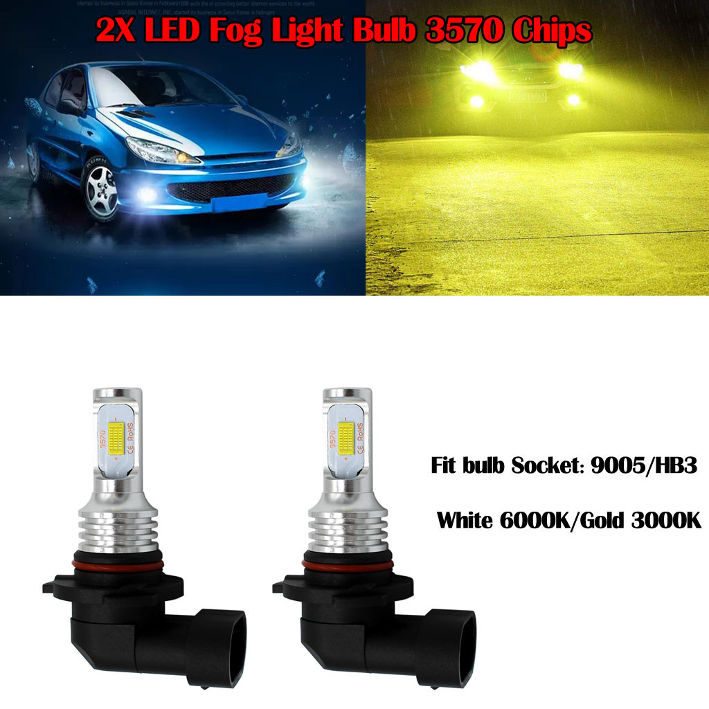 H7 LED Fog Light Bulb Newest Version 3570 CSP-Chips LED Fog Lamp Bulbs White 6000K Use For Fog Lights