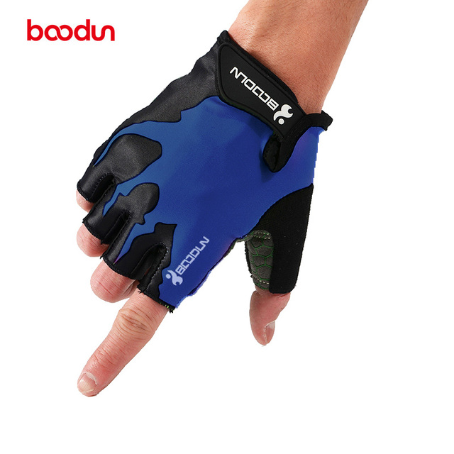 BOODUN Sports Cycling Gloves Non-slip Half Finger Gloves Unisex Weightlifting Wear-resistant Gloves Bicycle Luvas de ciclismo