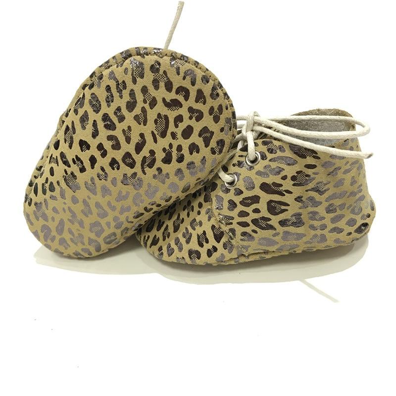 Hoge kwaliteit metallic Leopard echt leder Baby Oxford schoenen Baby - Baby schoentjes - Foto 4