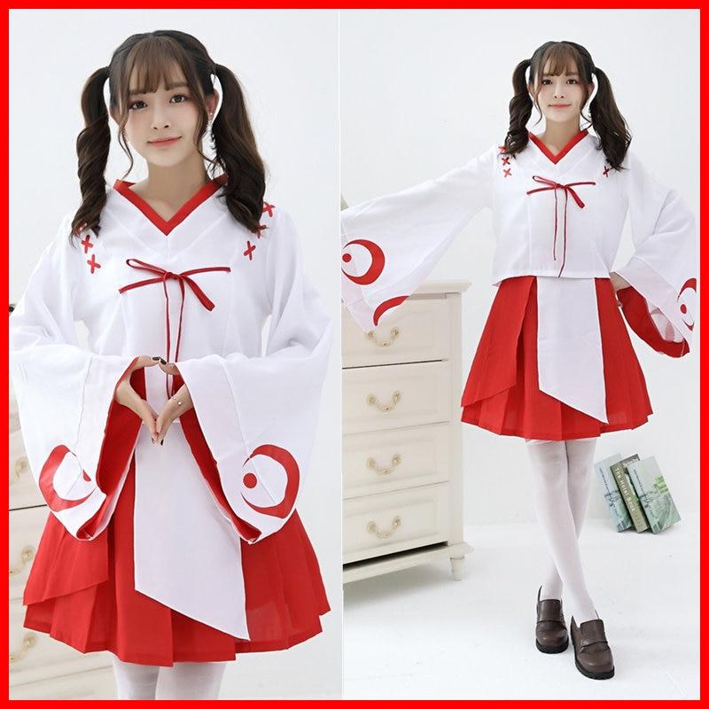 Cosplay costume Japanese cartoon dress Kikyou animation clothing  kimono skirt
