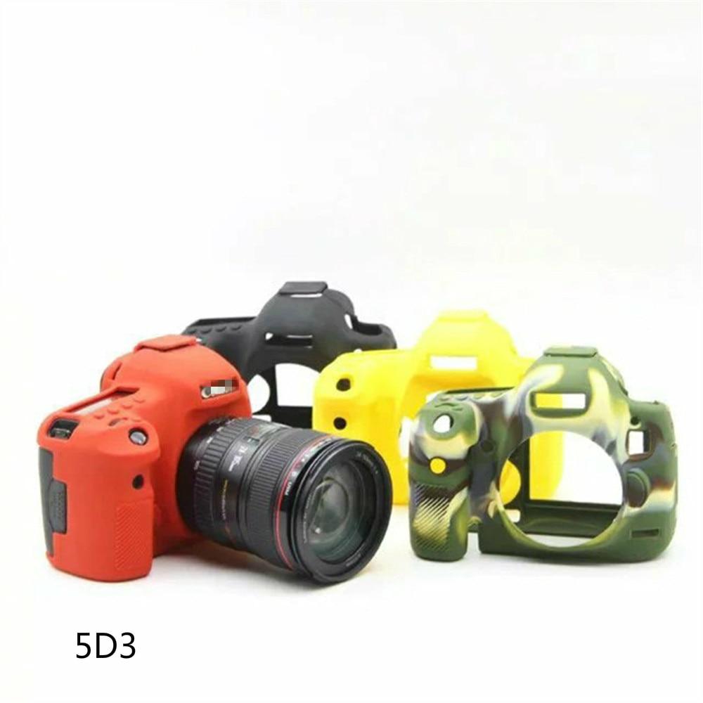 FGHGF 5D Mark III 3 Cámara bolsa suave caucho de silicona cámara de protección del cuerpo caso cubierta de piel para Canon 5DSR 5D3