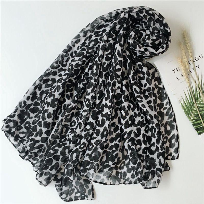 5pcs Pop Fashion Women Leopard print Print Soft Shawl Muslin   Scarf     Wrap   Long Balinese yarn shawl 2colors k1