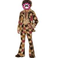 Free Shipping Hot Men 60s 70s Retro Hippie Costume Vintage 1960s 1970s Go Go Girl Disco Costumes Men's Disco Costume