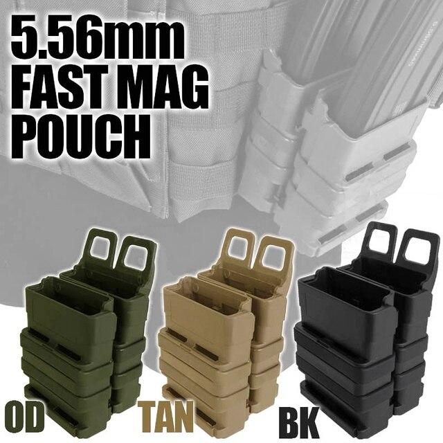 Pochette tactique Abay AR M4 5.56 FastMag Molle pochette militaire Wargame Airsoft rapide porte-chargeur pistolet de chasse pochette à benne basculante