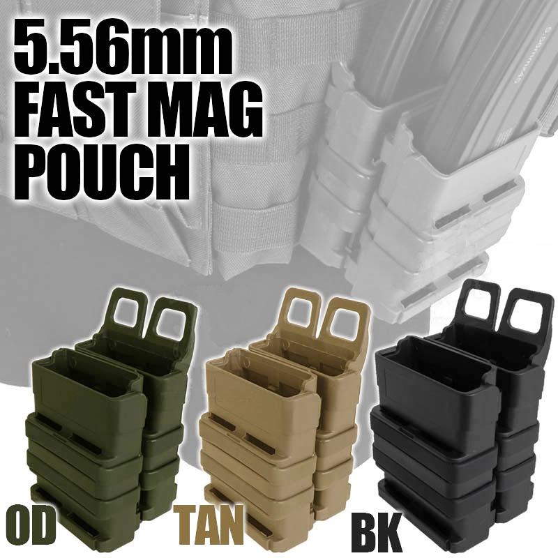 Abay Tactical AR M4 5.56 FastMag Molle Pouch Military Wargame Airsoft Fast Mag Holder Hunting Pistol Magazine Dump Pouch image
