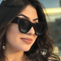 Coodaysuft Women Cat Eye Sunglasses 2018 New Brand Design Female UV400 Retro Sun Glasses Fashion Vintage