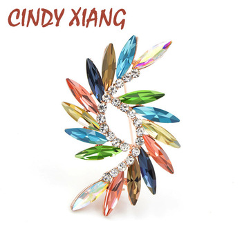 CINDY XIANG New 2018 Colorful Style Crystal Brooches For Women Spring Simple Design Fashion Jewelry Wedding Accessories