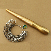 Free Shipping 1 33 HK Size Metal Coppering Ring Stick And Ring Sizer Set Measure Finger