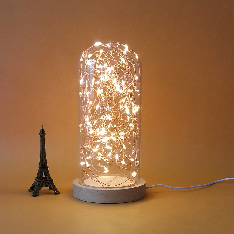 Led Night Light Fire Tree Silver Flower Creative Led