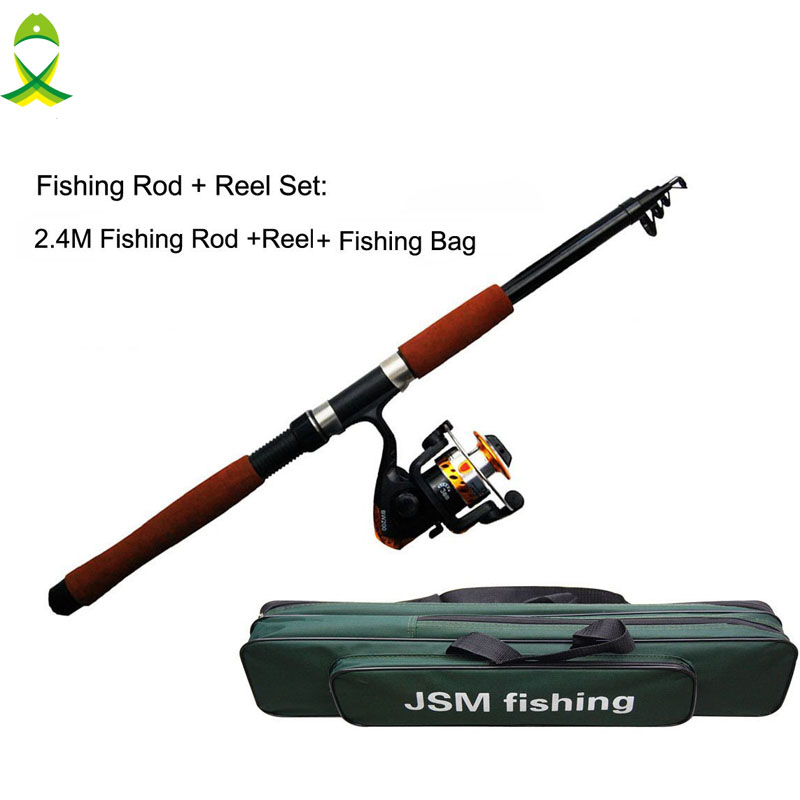 Jsm spinning rod and reel combos fishing carrier bag for Fishing rod and reel case