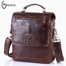 ZZNICK 2017 New Men's Business Bag Brand Genuine Leather Male Fashion Shoulder Bags Luxury Cow Leather Handbag Men Crossbody Bag