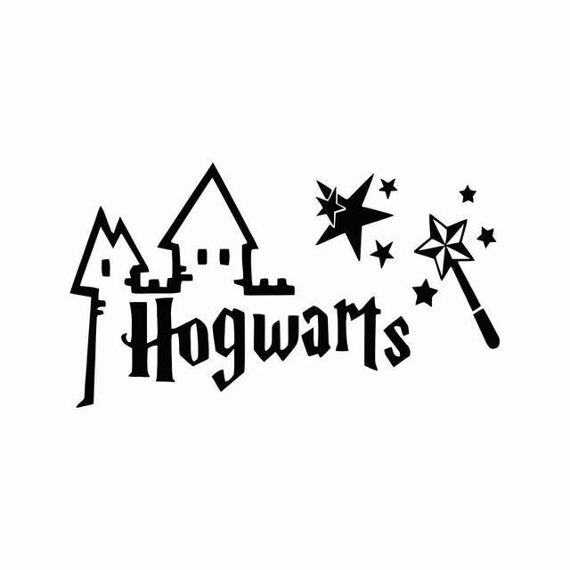 HARRY POTTER HOGWARTS MAGIC WAND CUT VINYL WALL ART ...