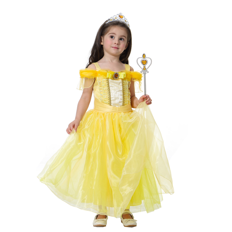 2019 new girls princess dress dress Ai Luo sleep beauty princess girls stage costumes fluffy dress in Girls Costumes from Novelty Special Use