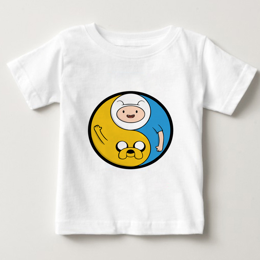 Adventure Time with Finn and Jake T Shirt kids Cartoon T Shirt Tees boy girl O Neck cotton t shirts summer top shirts 3T 8T NN in T Shirts from Mother Kids