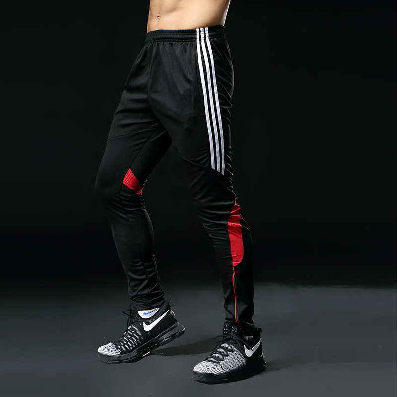Mens Gym Running Pants Athletic Football Soccer Training Pants Fitness Workout Jogging Quick Dry Running Sport Trousers 316