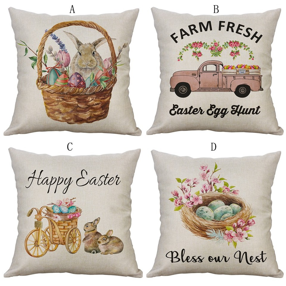 24 Styles Cushion Covers Cotton Linen